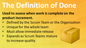 Scrum Definition Of Done